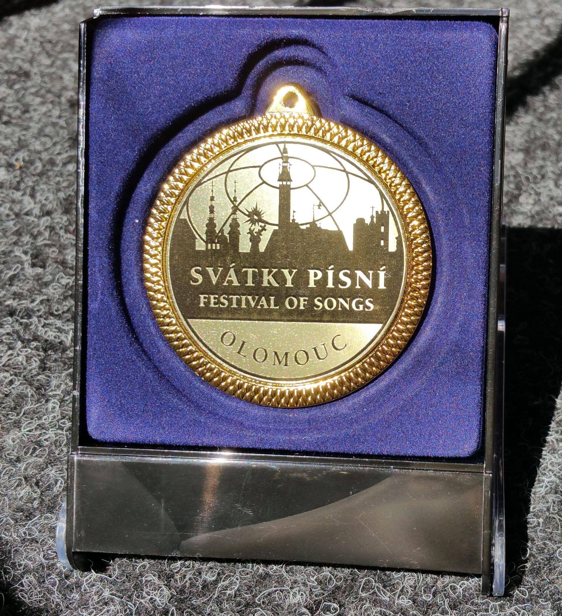 Zlatá medaila Olomouc+