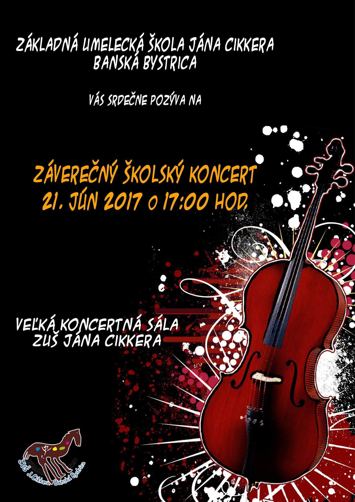 Záverečný školský koncert 2017