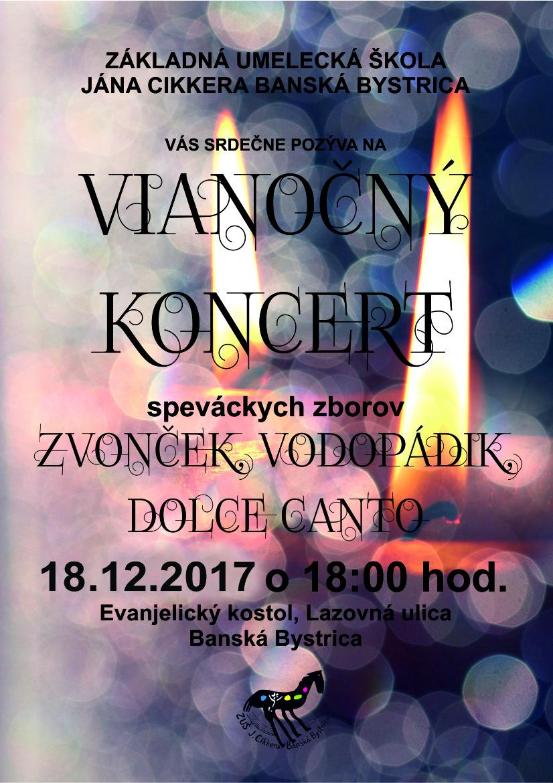 Vianočný koncert spev. zborov 18.12.2017