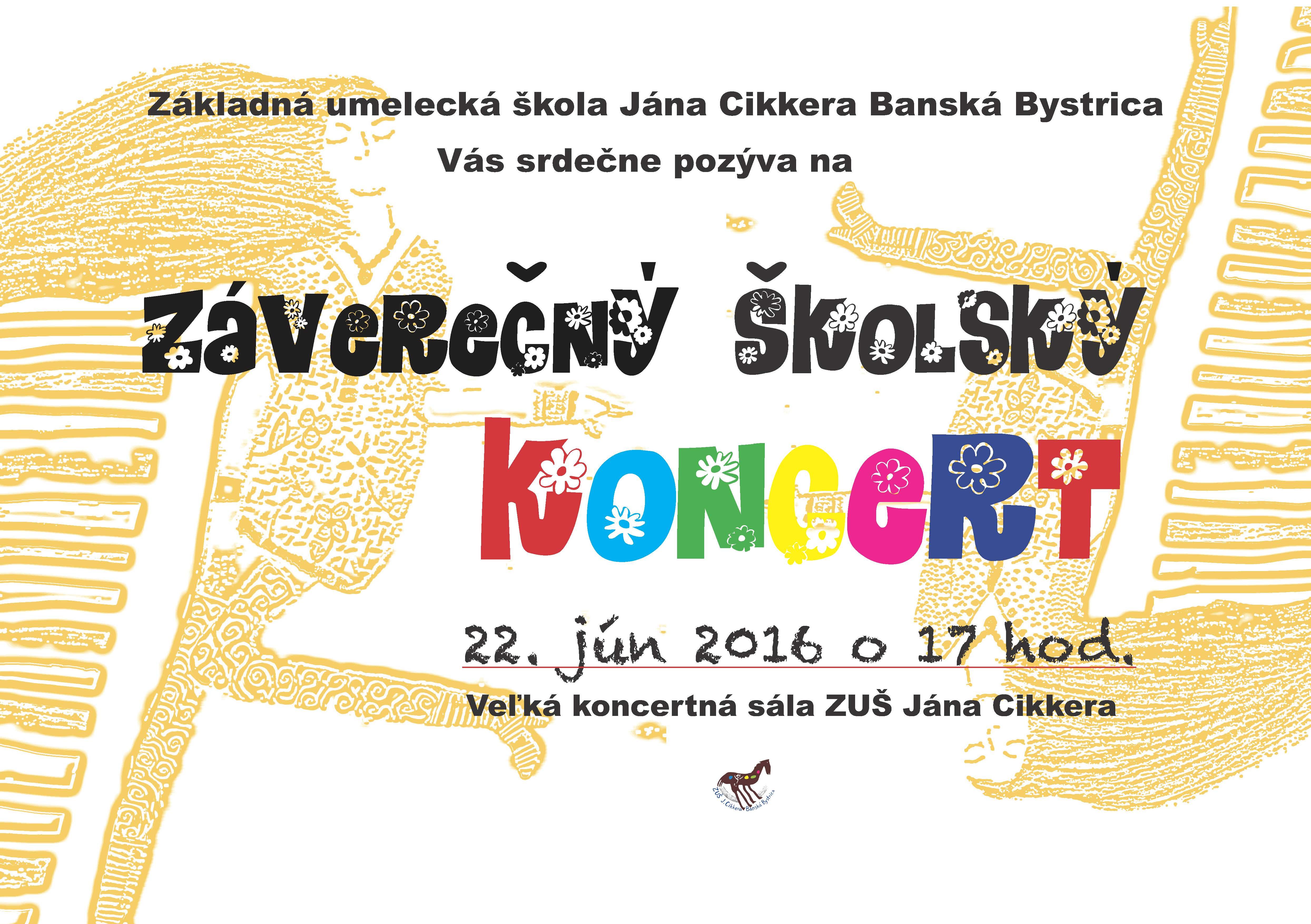 Zaverecny koncert 22.6.2016
